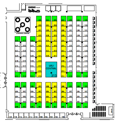 URJ Biennial 2017 Exhibit Hall Floor Plan
